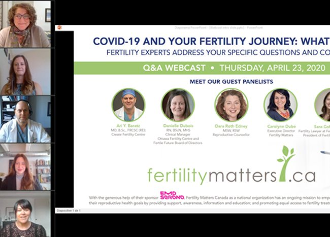 Webcast produced for Canadian fertility patients